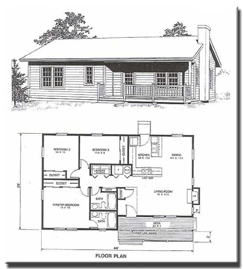 Idaho cedar cabins floor plans for 3 bedroom cabin plans